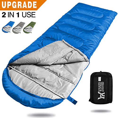 Mummy Kids (WINNER OUTFITTERS Camping Sleeping Bag, Portable Lightweight Rectangle/Mummy Backpacking Sleeping Bag with Compression Sack, 4 Season Sleeping Bags For Adults & Kids Camping Travel Summer Outdoor)