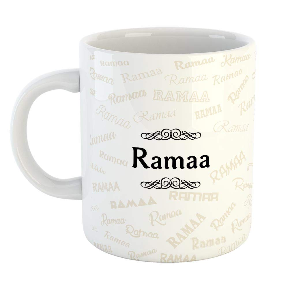 Buy Furnishfantasy Ceramic Coffee Mug Best Personalised Gift For Happy Birthday Color White Name Ramaa Online At Low Prices In India Amazon In