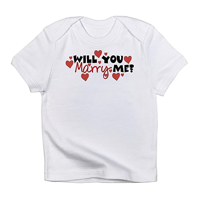 b4f41a26fe Amazon.com: CafePress - Will You Marry Me? Infant T-Shirt - Cute ...