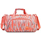 AOKE Small Mixed Striped Travel Duffel Weekender Stand Bag with Shoulder Strap