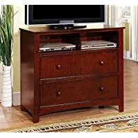 Furniture of America CM7905CH-TV Omnus Cherry Media Chest Drawer