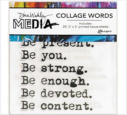 Ranger Dina Wakley Media Collage Word Pack from Ranger