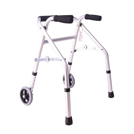 EGCLJ Andador Anciano con Manija - Altura Ajustable Y Plegable ...