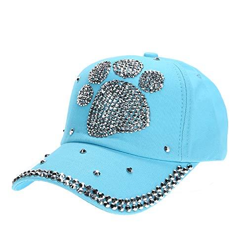 カジュアル 子供 野球帽子 女の子男の子 ダイヤモンド帽子,青,ハートシェイプ