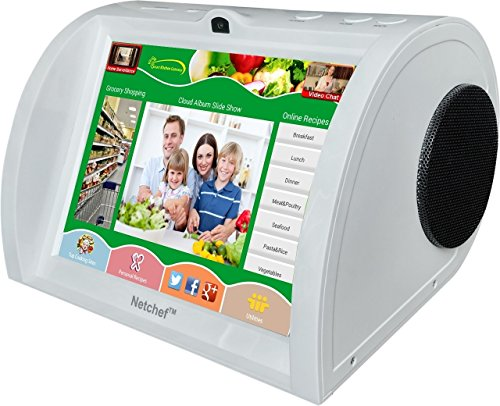 Netchef G3, Voice Search Online Grocery Shopping & Recipes, Home Surveillance, Video Chat, and much - Com Chat Live Glasses