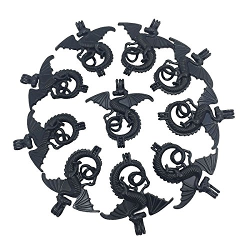 Charms 10pcs Black Dragon Small Pearl Bead Cage Pendant Locket Fit Necklace Bracelet Jewelry Making ()