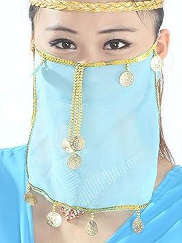 Grouptap Disfraz de máscara de Velo Sexy de Seda para Danza del ...