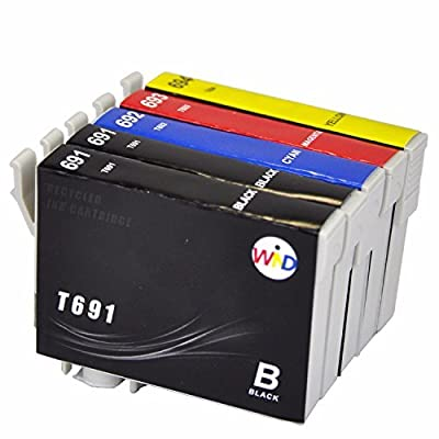 WIND ? 69 T69 T691 ( Black, Cyan, Magenta, Yellow) Work For Epson Stylus C120 CX5000 CX6000 CX700F CX7400 CX7450 CX8400 CX9400Fax CX9475 Fax NX100 NX105 NX115 NX200 NX215 NX300 NX400 NX415 NX510 NX515 Work Force 310/315/500/600/610/615/1100/30/40