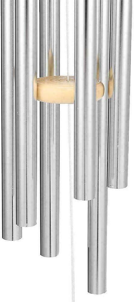 DIYARTS Carillons /à Vent en M/étal /à 8 Tubes Suspendus avec Un Son Apaisant Relaxant Naturel Ornement pour Jardin Int/érieur et Ext/érieur