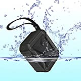 HAVIT Portable Wireless Bluetooth 4.1 Speaker, IPX5 Waterproof Dustproof for Outdoors Sport or Shower, Rechargeable Battery(Black)