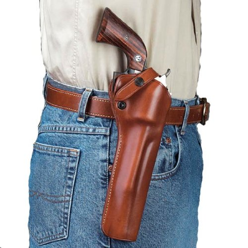 Galco SAO Single Action Outdoorsman Holster for Ruger Single Six 6.5-Inch (Tan, Right-Hand) (Shoulder Holster For Ruger Security Six Revolver)