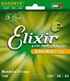 Elixir Strings Mandolin Strings w NANOWEB Coating, Light (.010-.034)