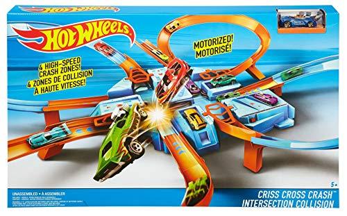 Hot Wheels Criss Cross Crash Track Set [Amazon Exclusive]