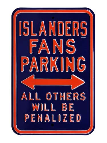 Authentic Street Signs NHL, Officially Licensed, REAL, Premium Grade Solid Steel Embossed PARKING SIGN 12