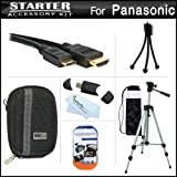 Starter Accessories Kit For The Panasonic DMC-ZS15 Digital Camera Includes Deluxe Carrying Case + 50 Tripod With Case + Mini HDMI Cable + USB 2.0 Card Reader + LCD Screen Protectors + Mini TableTop Tripod + MicroFiber Cleaning Cloth