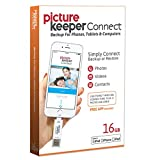 iPhone SMART USB Flash Drive 16GB [Apple MFI Certified] Picture Keeper CONNECT - Lightning Memory Expansion/Backup for Apple IOS