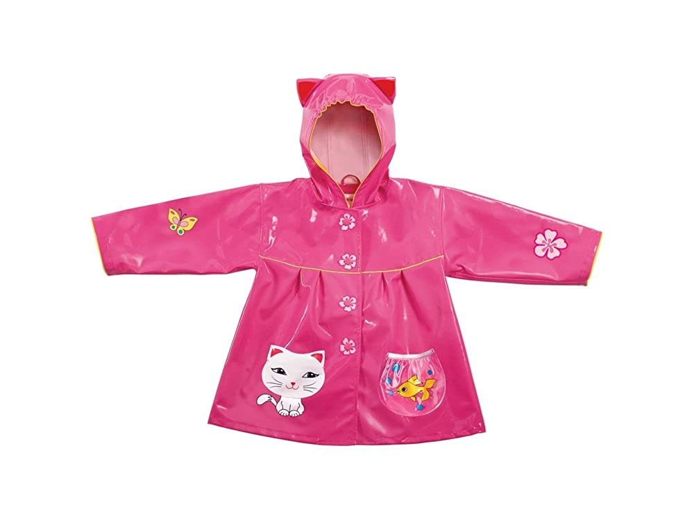 Small 80-86cm 2-3 years Kidorable Kids Lucky Cat Raincoat