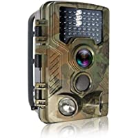 Trail Camera, HEEGOMN 0.2-0.6S Trigger HD Hunting Trail Camera 65ft 120° Wide Angle Infrared Night Vision 46PCS IR LEDS Water Protected Hunting Game Camera