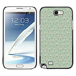 ZECASE Funda Carcasa Tapa Case Cover Para Samsung Galaxy Note 2 N7100 No.0000135