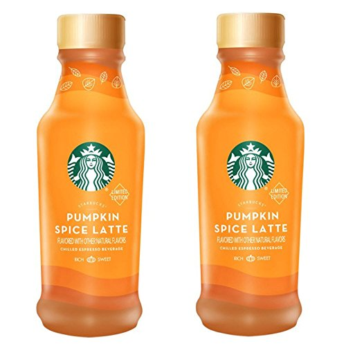 Pumpkin Spice Latte 2 Bottle Bundle, (Starbucks Halloween Drink)