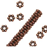 Antique Copper Plated Lead-Free Pewter Daisy Spacer Beads 3mm (50)
