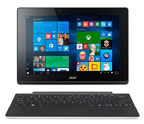 Acer Switch 10E PC Portable 2-en-1 Tactile 10 Blanc (Intel Atom 2 Go de RAM SSD 64 Go Windows 10 Home)  Microsoft Office 365