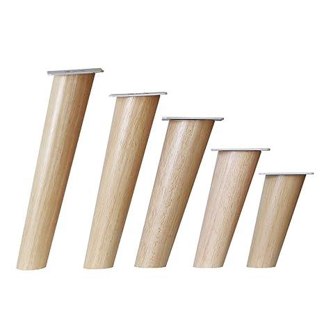4 patas para muebles de madera maciza, 75 °/80 °, patas de ...