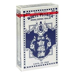 White flower my furnitureore white flower analgesic balm 034 ounce bottles pack of 4 mightylinksfo
