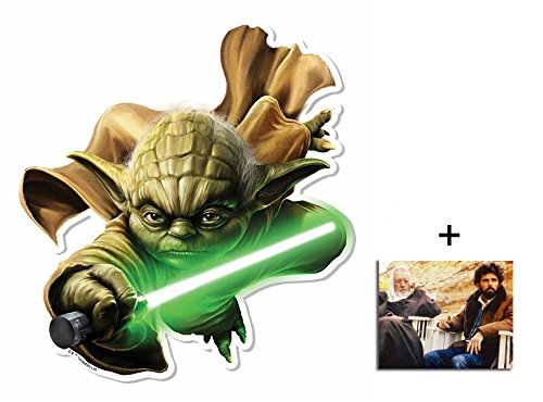 Fan Pack - Yoda 3D Effect Star Wars Official Pop Out Cardboard Wall Art Includes 8x10 (20x25cm) Photo