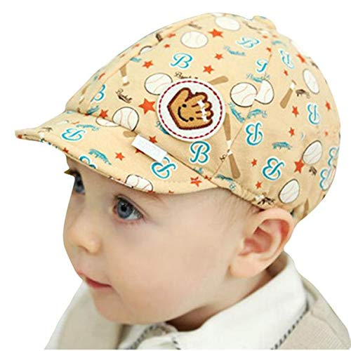 Gbell Toddler Boy Baseball Hat,Soft Baby Peaked Beret Cap for Boy Girl Infant Kids Age 0-3 Years Old