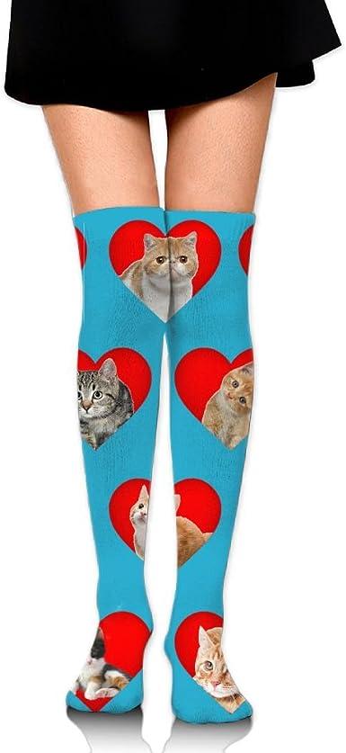 "Women/'s Fashion Knee Highs /"" Valentine Hearts /"" Shoe Size 5-9 ~ New"