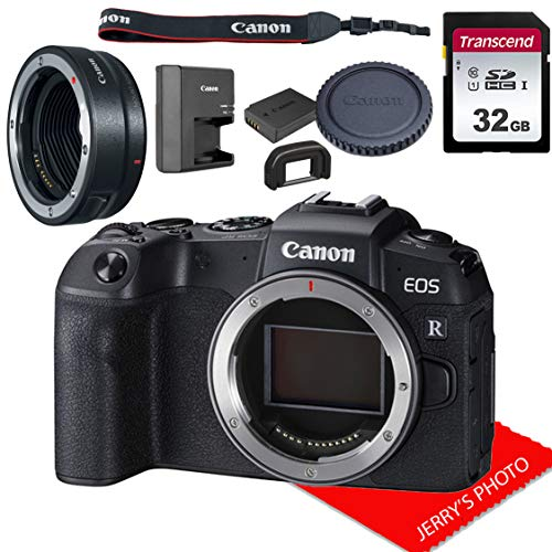 Canon EOS RP Mirrorless Camera Body Only (No Lens) W/Canon Mount Adapter EF-EOS R & 32GB Memory Bundle