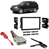 Fits Hyundai Santa Fe 03-06 w/ Monsoon Double DIN Harness Radio Dash Kit