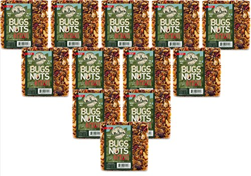 12-Pack of Mr. Bird Bugs, Nuts, Fruit Small Wild Bird Seed Cake 6 oz.