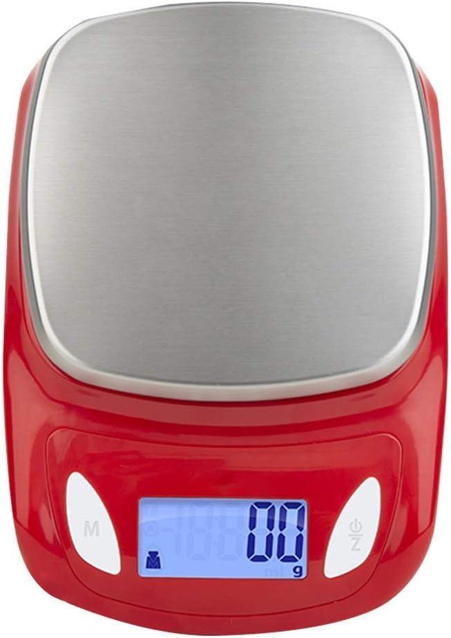 LIANYANG Balanzas para Alimentos de Cocina Plataforma de Cocina Digital precisa y Digital Balanzas de pesaje Balanza de cocción electrónica Balanza dietética Salud (Color:Blanco)