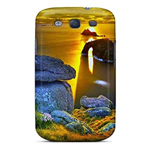 Perfect Rocky Coast Sunset Case Cover Skin For Galaxy S3 Phone Case