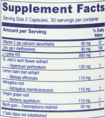 Vitanica Lysine Extra Capsules, 60 Count