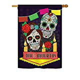 Ornament Collection H191029-BO Dia de Los Muertos Fall Halloween Impressions Decorative Vertical 28″ x 40″ Double Sided House Flag Printed in USA Multi-Color