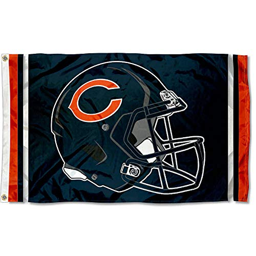 Nfl Flag Pole - WinCraft Chicago Bears New Helmet Grommet Pole Flag