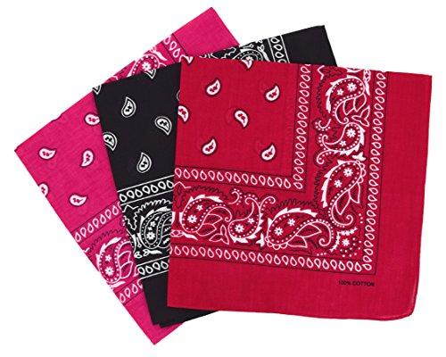 f09e466f418d Bandanas paisley lot de 3 - Foulard coton motif cachemire, accessoire  cheveux tendance  Amazon.fr  High-tech