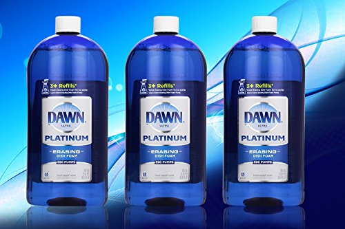 Dawn Platinum Erasing Dishwashing Foam Value Pack, 3 Refills, Fresh Rapids Scent, 30.9 Fluid - Dishwashing Direct Foam Dawn
