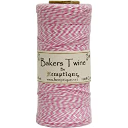 Pink/White Baker's Twine Spool