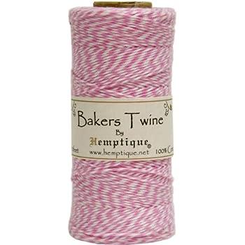 Hemptique BTS2LTPNK-W Baker's Twine Spool, Pink and White