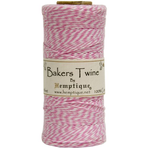 (Hemptique BTS2LTPNK-W Baker's Twine Spool, Pink and White)