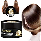 Hydrating Argan Oil Hair Mask Advanced Molecular Hair Roots Treatment and Deep Conditioner Hair Detoxifying Mask Recover Elasticity Hair for Dry or Damaged Hair 5 Seconds Magical Treatment