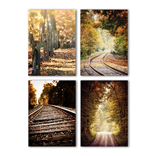 Autumn Landscape Print Set of 4 5x7