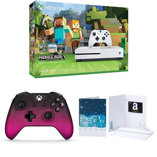Xbox One S 500GB Console - Minecraft + Extra Controller + $50 Amazon Gift Card - 5.00 Gift Card
