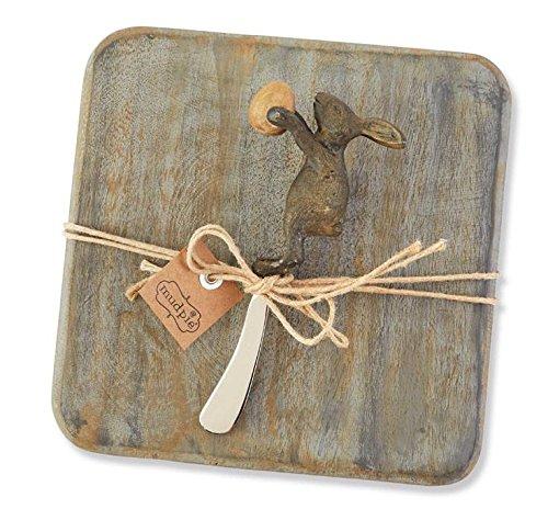 Mud Pie Bunny Cutting Board Set, Small, Brown