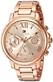 Tommy Hilfiger Women's 'CLAUDIA' Quartz Stainless Steel Casual Watch, Color:Rose Gold-Toned (Model: 1781743)