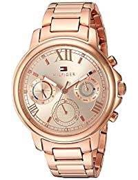 Tommy Hilfiger Women's 1781743 Claudia Analog Display Quartz Rose Gold Watch
